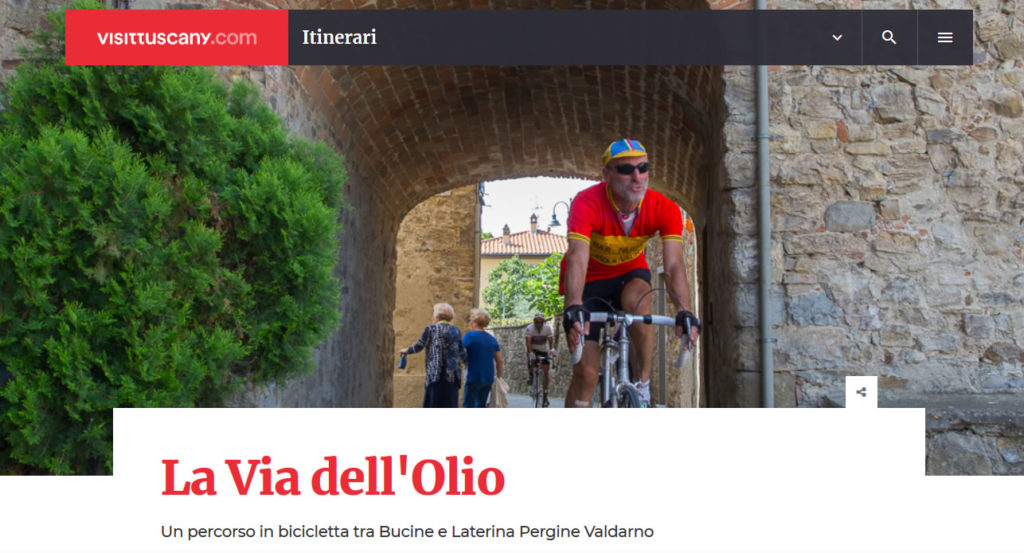 Valdarno Bike Road all'interno di Visit Tuscany